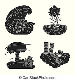 Vector illustration of calamity and crash icon. Collection of calamity and disaster stock vector illustration.