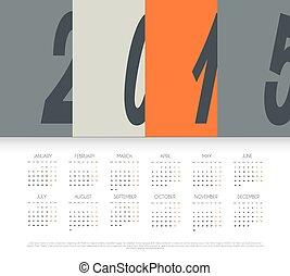 Calendar for 2015 year