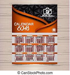 Calendar for 2018 Template flyer design