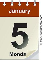 Vector illustration of calendar wit
