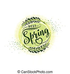 Vector illustration of calligraphy inscription best spring