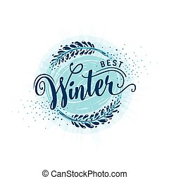 Vector illustration of calligraphy inscription best winter