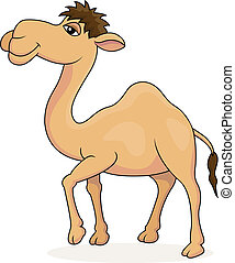 Vector illustration of Camel cartoon