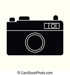 Vector illustration of camera and pixel icon. Set of camera and digital stock vector illustration.