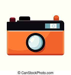 Vector illustration of camera and pixel logo. Collection of camera and digital stock symbol for web.