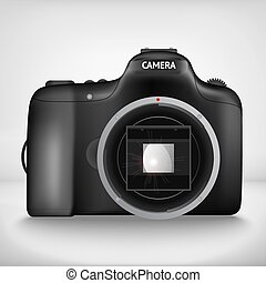 vector illustration of camera