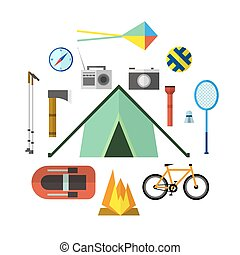 Vector illustration of camping outdoor activity. Great for web and mobile apps.