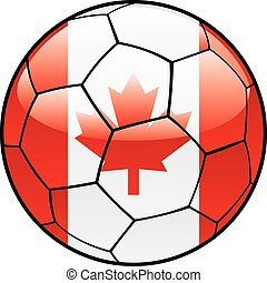 Canada flag on soccer ball
