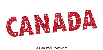 Vector illustration of Canada grunge stamp