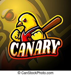 Vector illustration of Canary esport logo mascot design