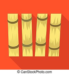 Vector illustration of cane and sugar symbol. Graphic of cane and plant stock symbol for web.