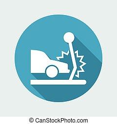 Vector illustration of car crash single isolated icon