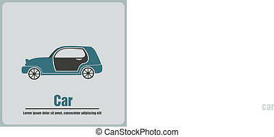 Vector illustration of car icons