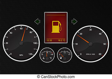 Vector illustration of car instrument panel