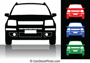 Vector illustration of car silhouette