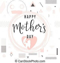 Vector illustration of card for mother day holiday greeting