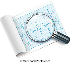 cardiogram - Vector illustration of cardiogram under ...