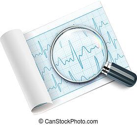 cardiogram - Vector illustration of cardiogram under...