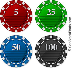 Cards Chips Poker - Vector illustration of Cards Chips Poker...