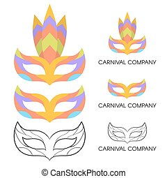 Vector illustration of carnival mask logo.
