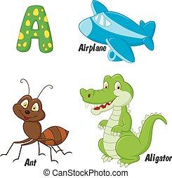 Cartoon A alphabet