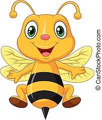 Cartoon adorable bees