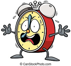Alarm clock - Vector illustration of Cartoon Alarm clock