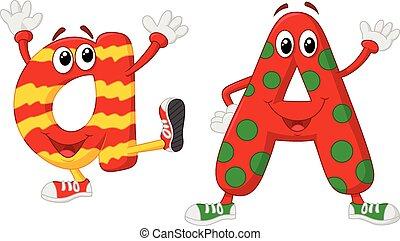 Cartoon alphabet A
