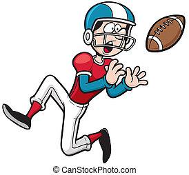 American football player - Vector illustration of Cartoon...