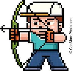 Archery player - Vector illustration of Cartoon Archery...