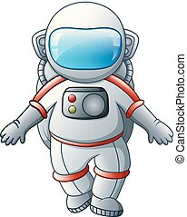 Cartoon Astronaut on a white background