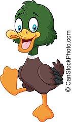 Cartoon baby duck isolated - Vector illustration of Cartoon...
