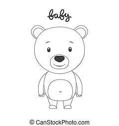 Vector illustration of cartoon bear.