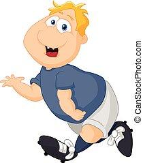 Cartoon big boy running