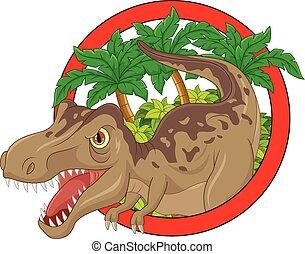 Cartoon big dinosaur