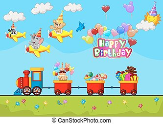 Cartoon Birthday background