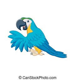 Cartoon blue parrot