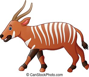 Cartoon bongo antelope