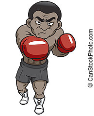 Cartoon boxer - Vector illustration of Cartoon boxer