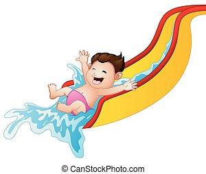 waterslide clipart vector graphics 180 waterslide eps clip art rh canstockphoto com Inflatable Water Slides water slide clip art totally free