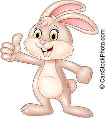Cartoon bunny giving thumb up