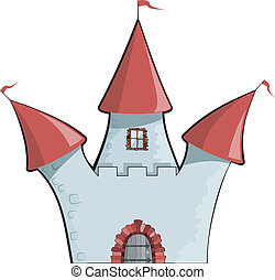 Vector illustration of cartoon castle. EPS10