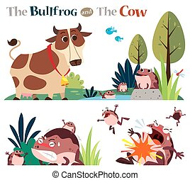 The Bullfrog and the Cow