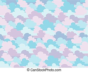 Vector illustration of cartoon clouds