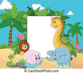 Cartoon collection animal