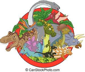 Cartoon Collection dinosaur charact