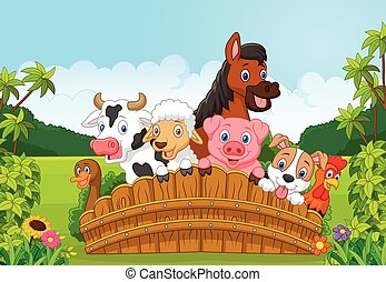 Cartoon Collection farm animals in
