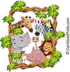 Cartoon collection happy animals