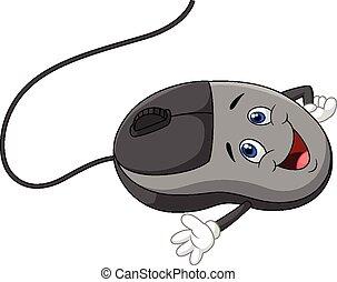Cartoon computer mouse