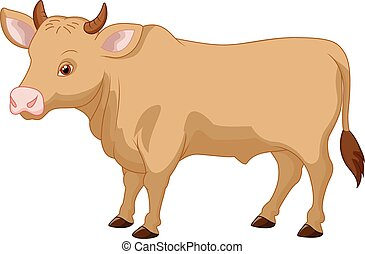 Cartoon cow - Vector illustration of Cartoon cow